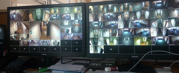 Система видеонаблюдения в работе