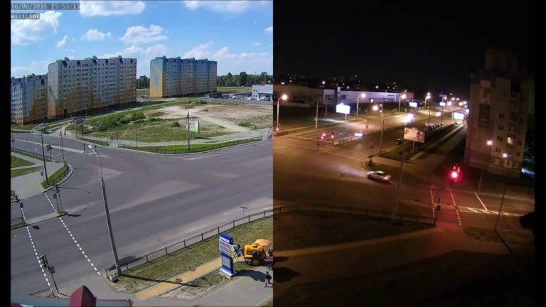 сравнение видеокамеры день ночь