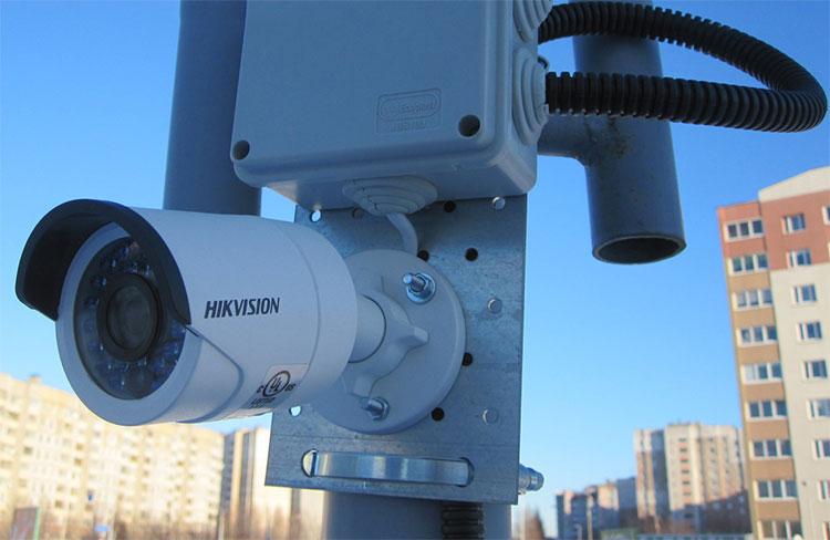 Установка видеонаблюдения на улице в Домодедово