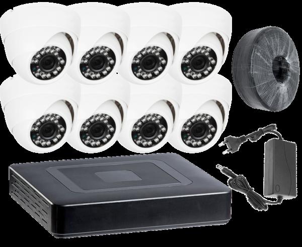 Комплект видеонаблюдения из 8х камер
