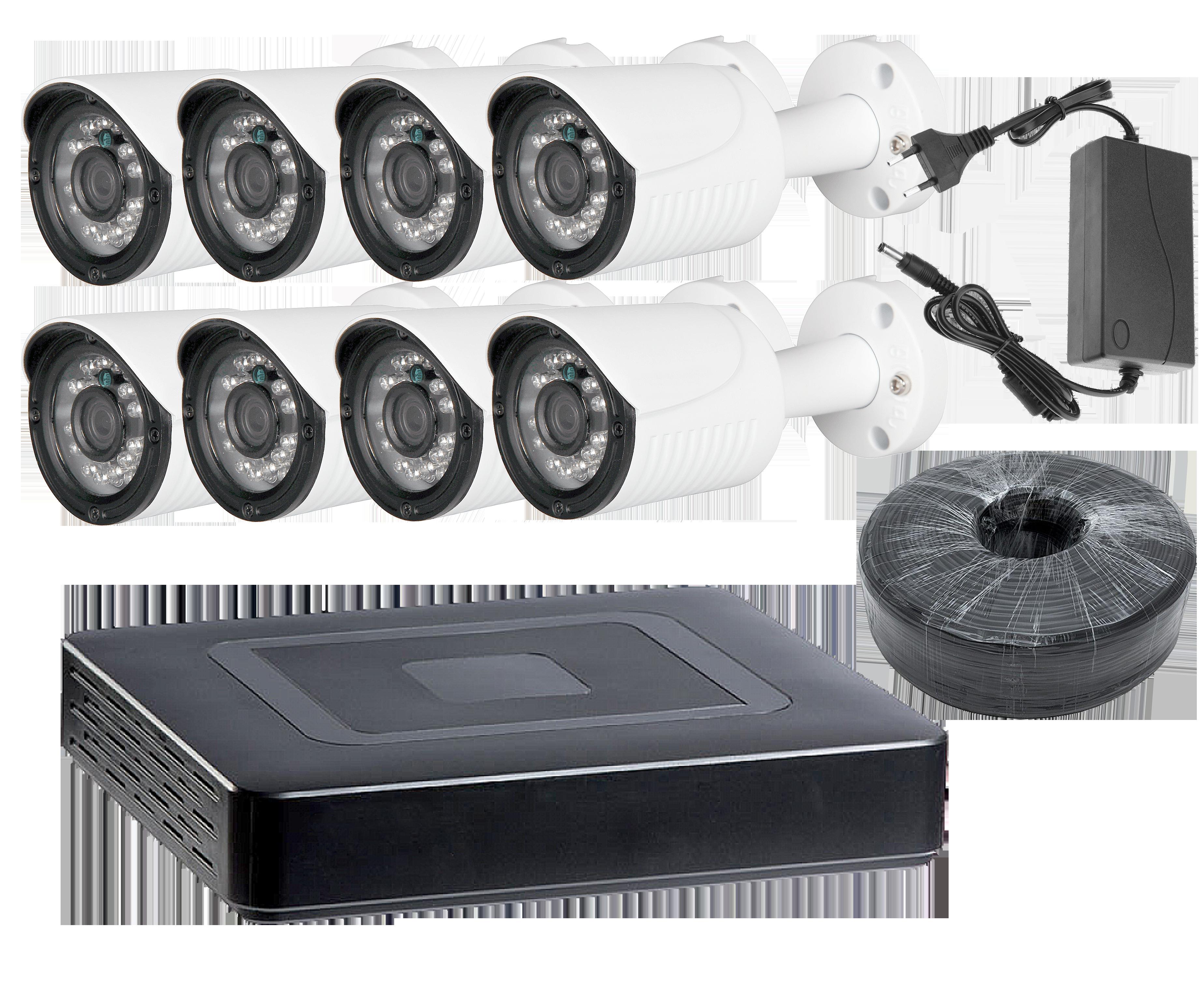 Комплект видеонаблюдения на 8 камер уличный