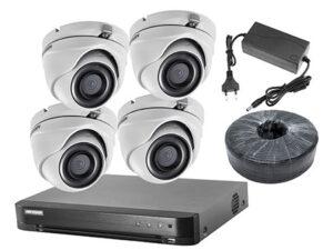 Комплект видеонаблюдения из 4х камер HIKVISION